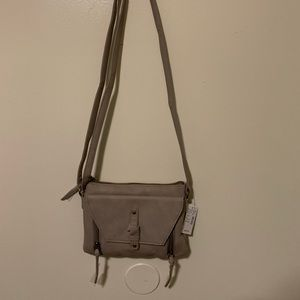 Brand new with tags gray Maurice's crossbody bag